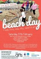 zoo arts extra beach day Feb 2016 poster
