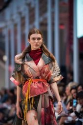 A MODEL WEARS A DESIGN BY ECA STUDENT Rosey Norman