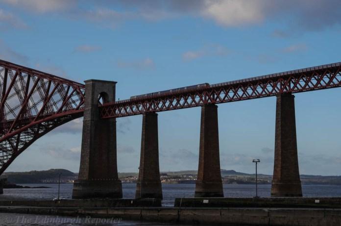 Train crossing Forth Bridge
