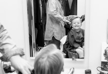 Hairdresser and young client