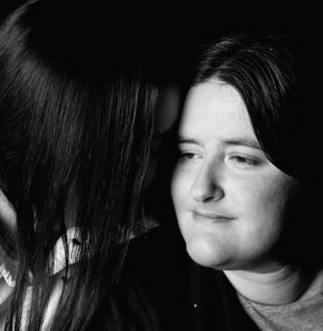 Black and white Sarah and Karine Mather headshot