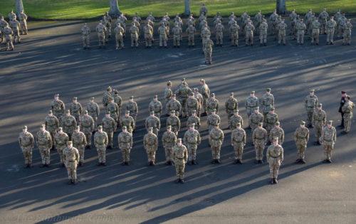 Regiment on parade