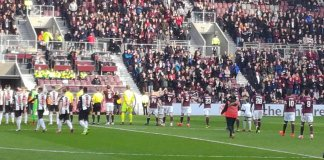 Action from Hearts v St Mirren at Tynecastle, 23rd February 2019