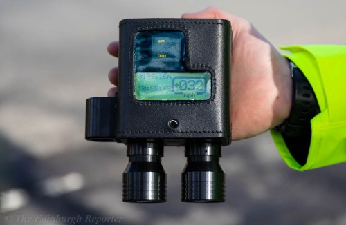 Image of a hand-held speed camera