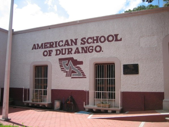 Front of the main school.