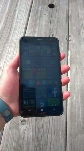 The Nokia Lumia 1320 in-hand.