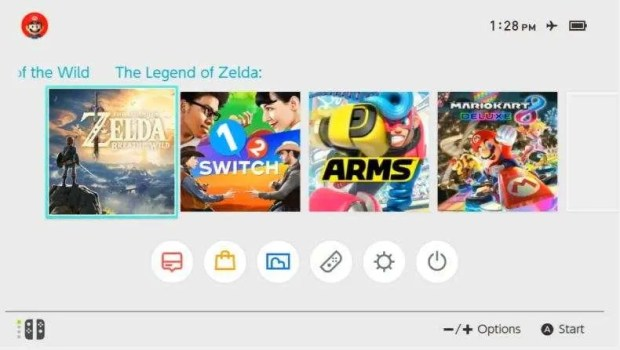 A glimpse at the UI and menu layout for the Switch