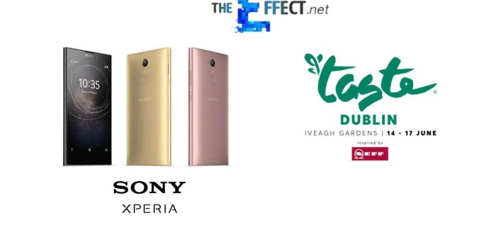COMPETITION: Win a Sony Xperia L2 smartphone + tickets to Taste of Dublin