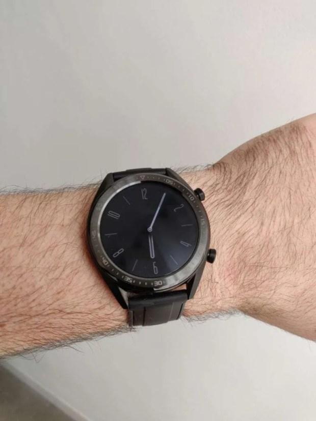 Huawei Watch GT on the wrist
