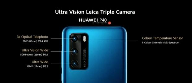 Huawei P40 Camera Specs