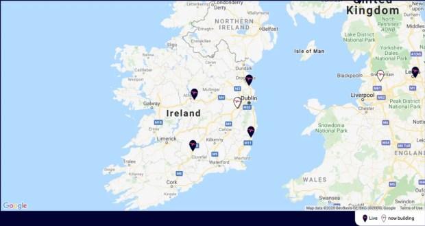 IONITY Network Ireland April 2020