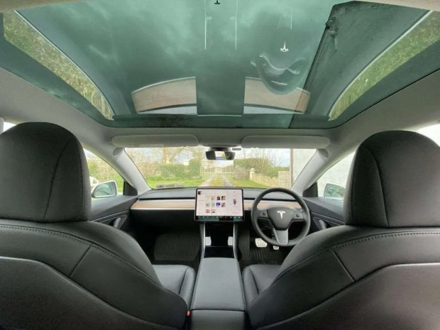 Tesla Model 3 Interior With Glass Roof