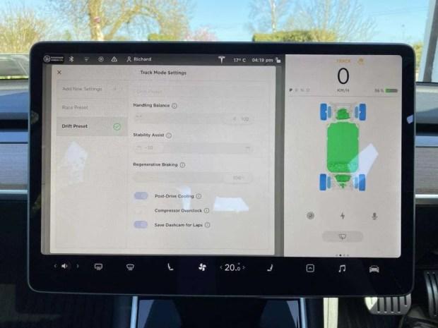 Tesla Model 3 Track Mode