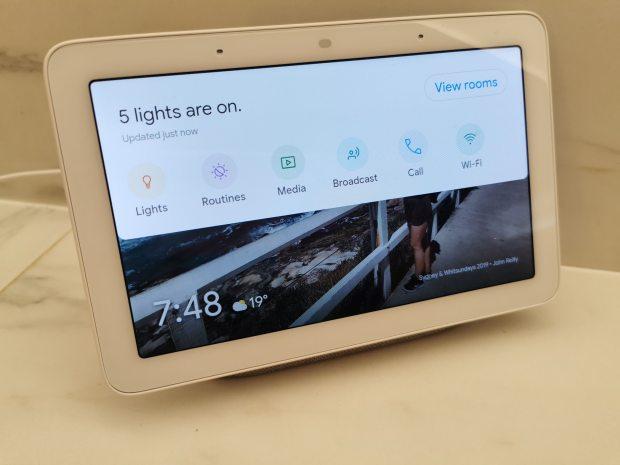 Google Nest Hub Smart Bulb Control