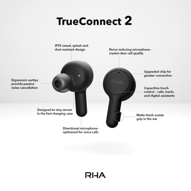 RHA TrueConnect 2 Wireless Earbuds specs