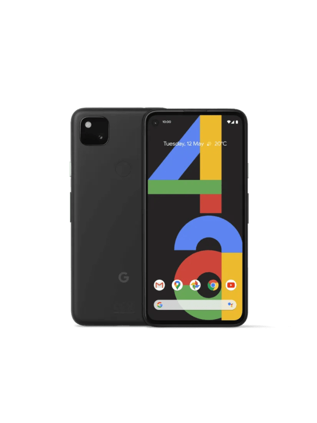 Google Pixel 4a front on in black