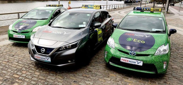 FREE NOW Launches first eco taxi booking option in Ireland