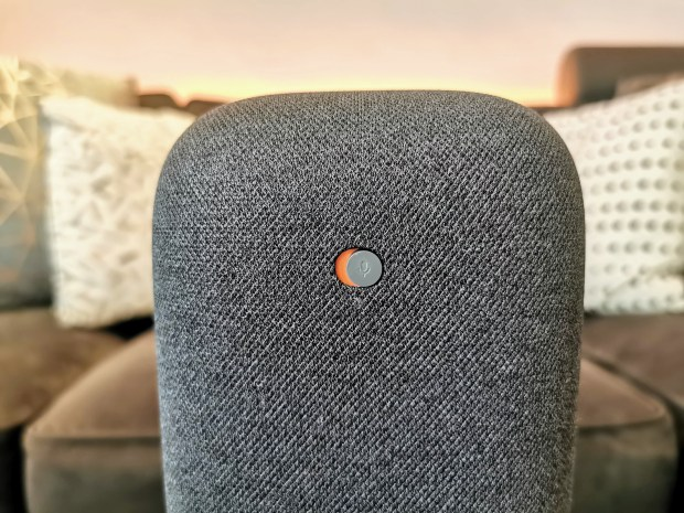 Google Nest Audio Charcoal mute switch