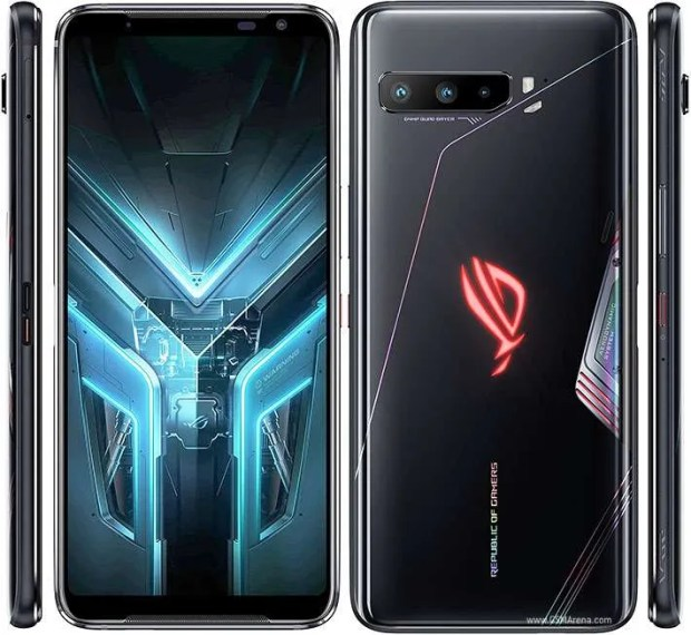 Front, back and sides of Rog Phone 3