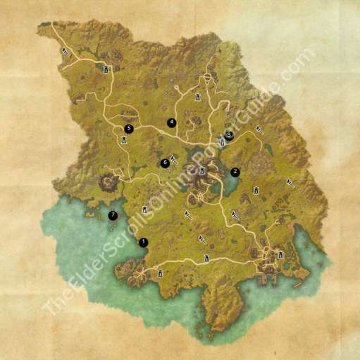 ESO Treasure Maps Guides Grahtwood Treasure Map Locations