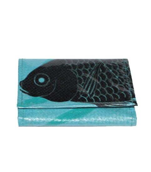 Recycled Fish Feed Deluxe Unisex 3 Fold Wallet 4