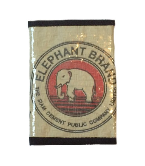 Elephant Brand Recycled Unisex 3 fold Wallet with Black Fabric 3