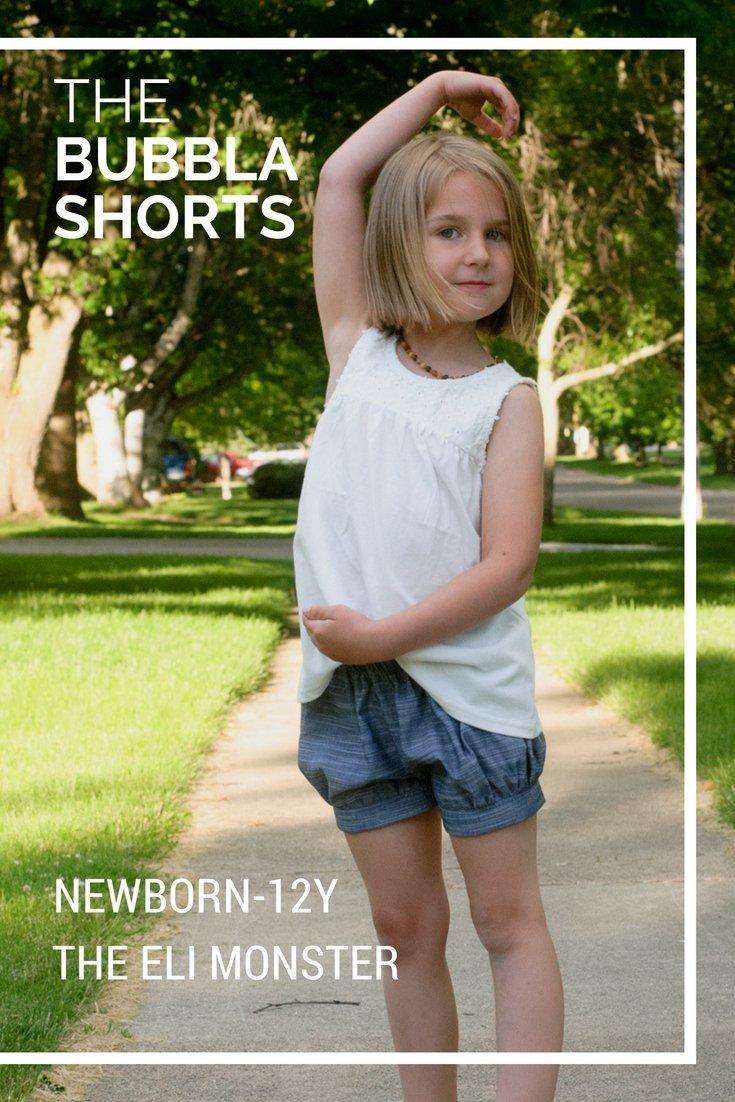 girls bubble shorts sewing pattern