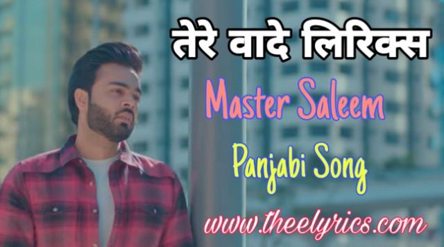 Tere Vaade Lyrics – Master Saleem