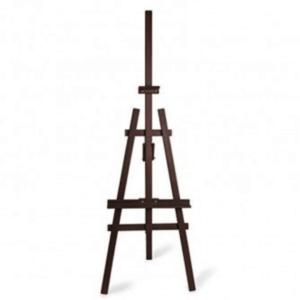 dark brown wooden easel