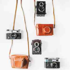 vintage cameras and cases