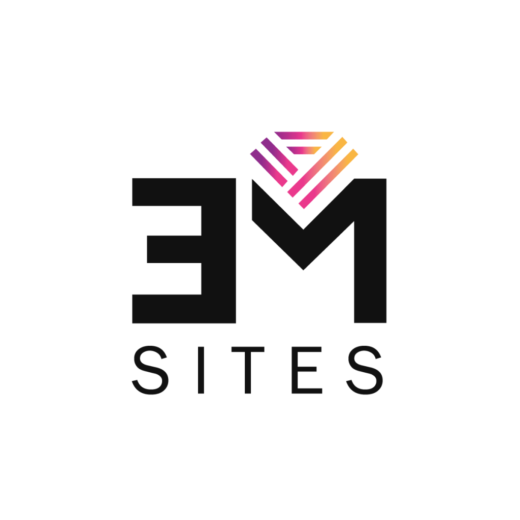 """The Empire Method's all in one website shorthand logo """"EM Sites"""""""