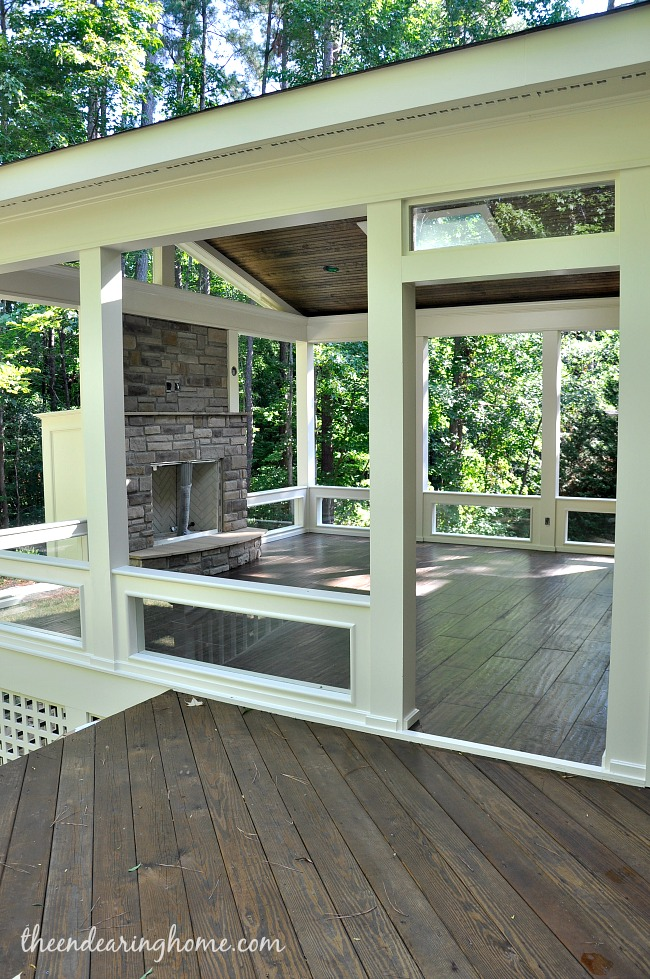 Turning Our Back Porch Dreaming Into A Reality - Part 3 on Enclosed Back Deck Ideas id=82229