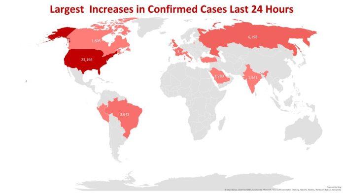 global hot spots coronavirus April 28