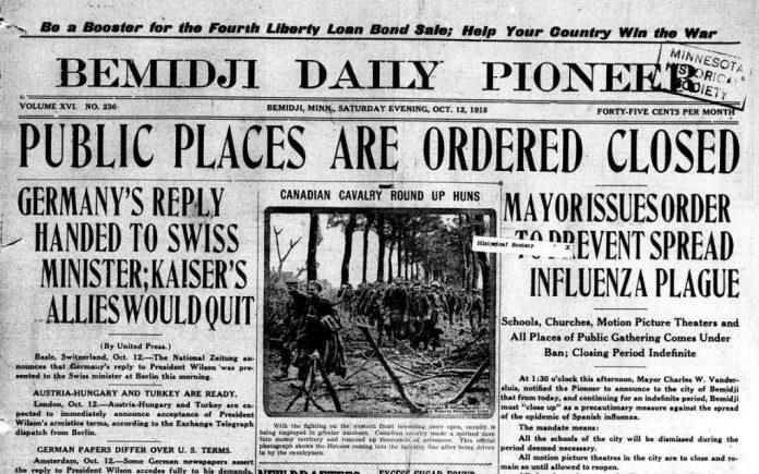 The Great Influenza, Spanish Flu, of 1918