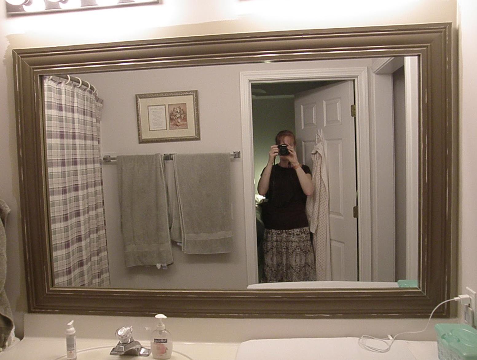Large Framed Bathroom Mirrors Home Design Ideas