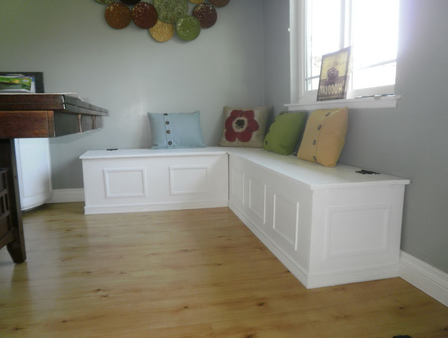 L Shaped Bench With Storage Plans Home Design Ideas