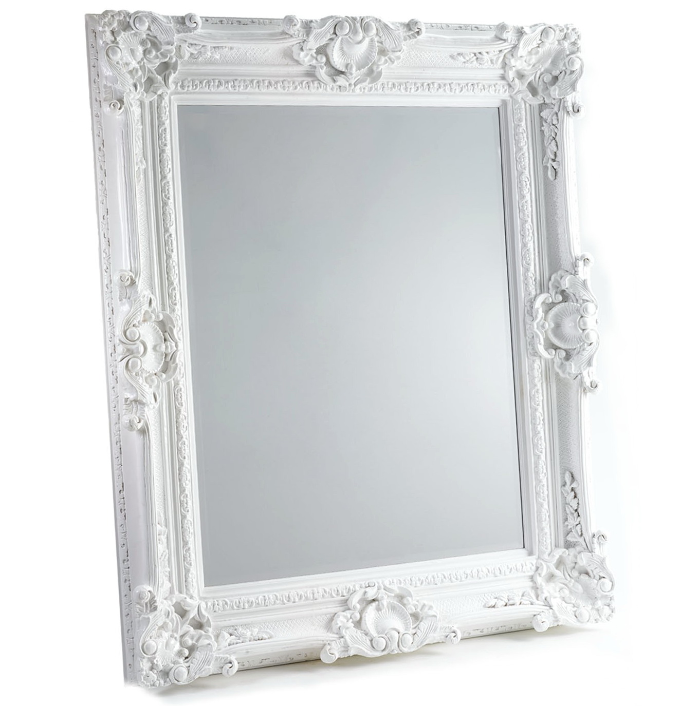 Large White Baroque Mirror Home Design Ideas