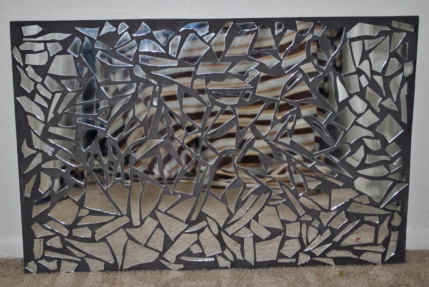 Mirrored Mosaic Wall Art Home Design Ideas