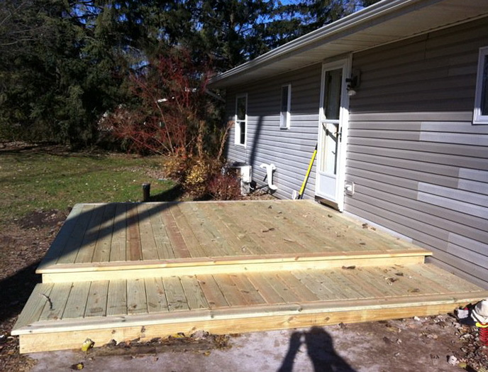 Building A Floating Deck Over A Concrete Patio | Home ... on Deck Over Patio Ideas id=55727
