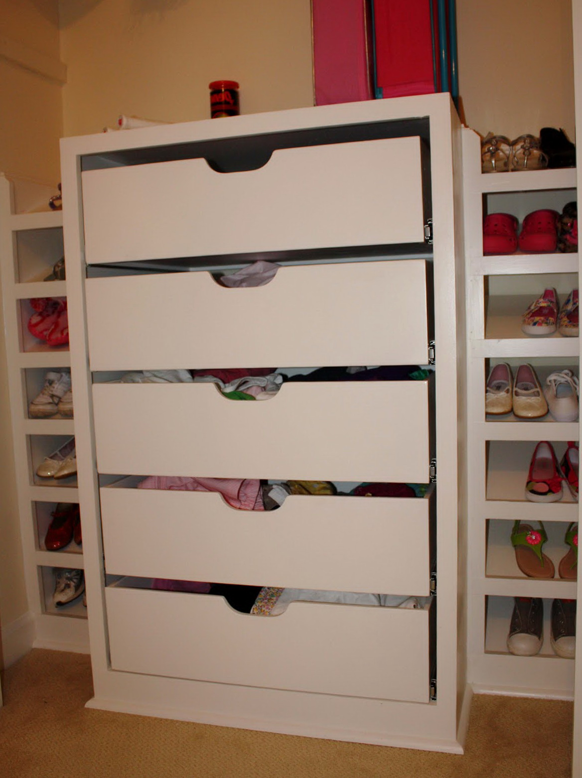 Hanging Closet Organizers With Drawers Home Design Ideas