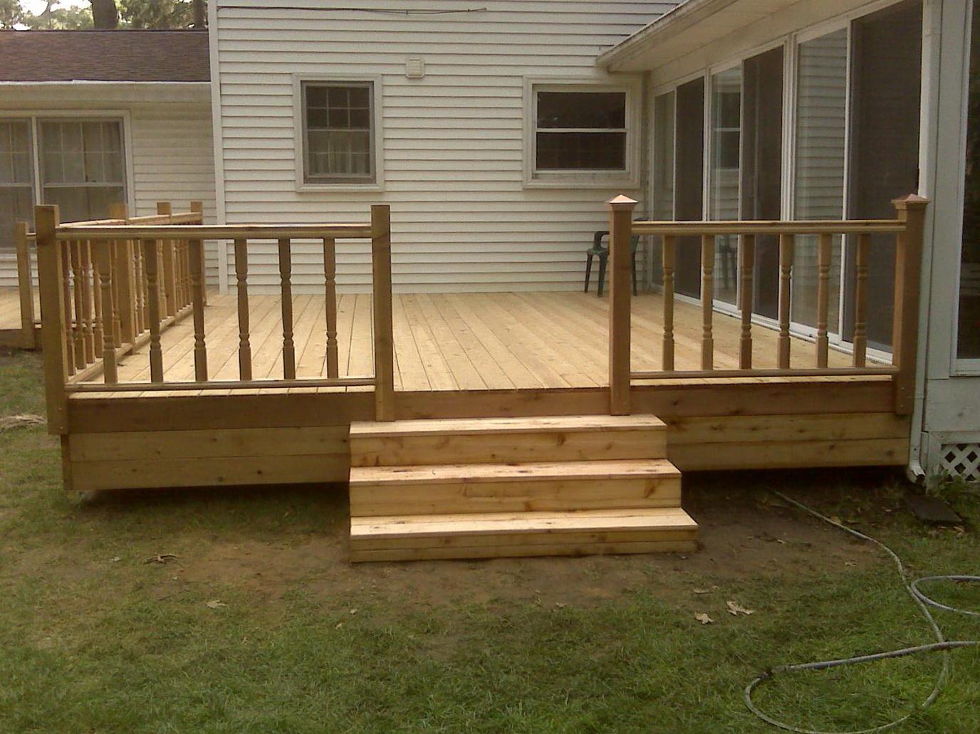Simple Wood Deck Designs | Home Design Ideas on Wood Deck Ideas For Backyard  id=65385