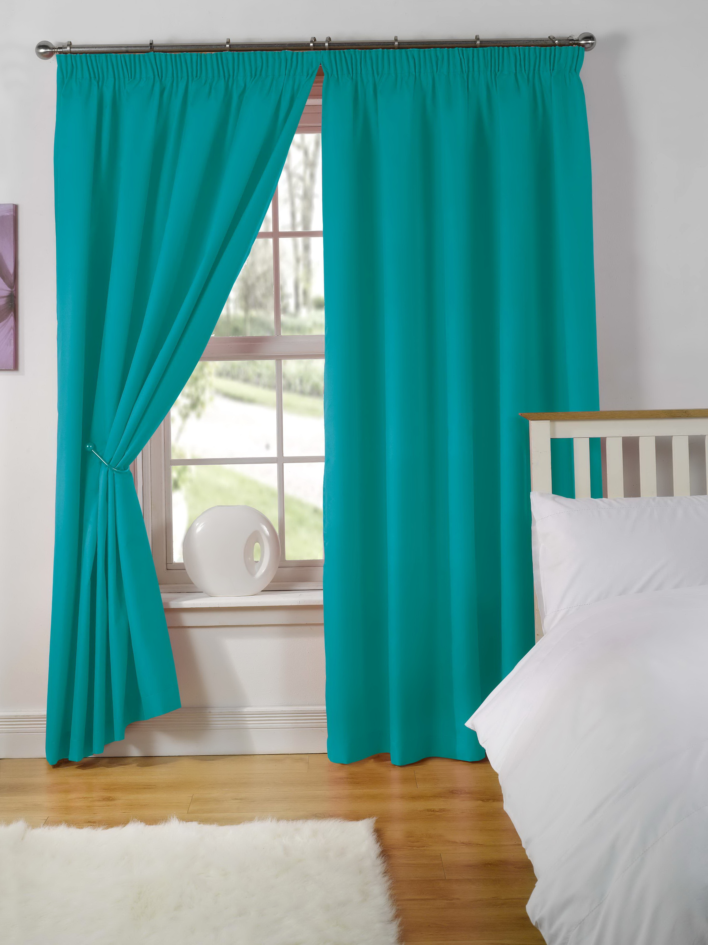 Teal Ready Made Curtains Home Design Ideas