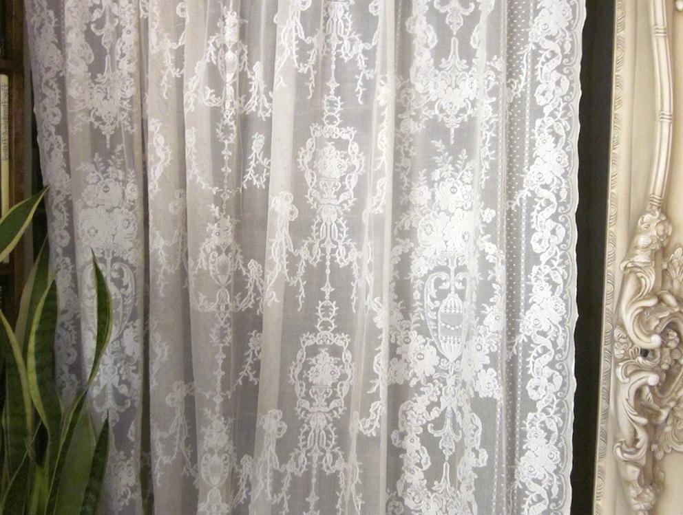 Vintage Lace Curtain Panels Home Design Ideas