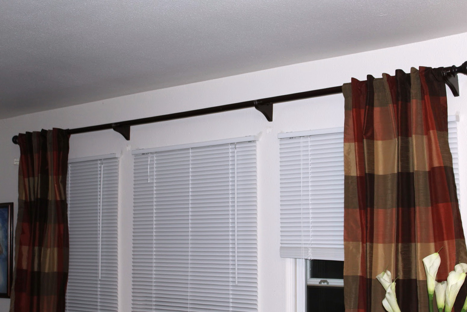 Inside Mount Curtain Rod Home Depot Home Design Ideas