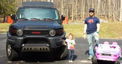 Blake Bonser and his FJ Cruiser