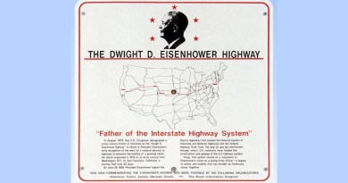 President Eisenhower was responsible for America's roadways.