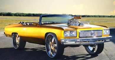 This golden lion is the leader of donks, with its rockstar paint job and badass blower sticking out of the hood.