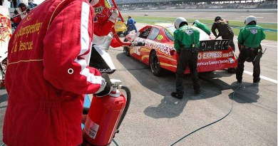 Fire safety, as important to consider on the track as it is off the track.