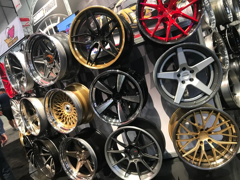 What's absolutely certain, you can't talk SEMA without doting on wheels and tires. Bigger and bolder is better certainly drove the wow factor at this year's event.