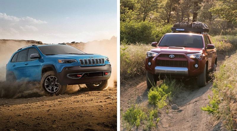 Battle On 2019 Jeep Cherokee Trailhawk Vs 2019 Toyota 4runner Trd